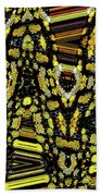 Many Flowers Abstract Beach Towel