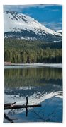 Manzanita Lake Reflects On Mount Lassen Beach Towel