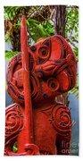 Maori Guardian Beach Towel