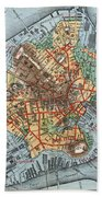 Map: Boston, C1880 Beach Towel