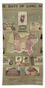 Map: Confederate States Beach Towel