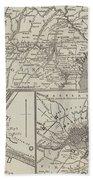 Map Illustrating General Lee's Advance Into Pennsylvania  Beach Towel
