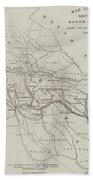 Map Illustrating General Sherman's March Through Georgia  Beach Towel