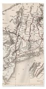 Map: Northeast U.s.a Beach Towel