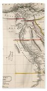 Map Of Aegyptus Antiqua Beach Towel by Sydney Hall