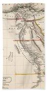 Map Of Aegyptus Antiqua Beach Sheet
