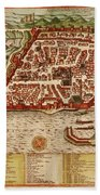 Map Of Algiers 1541 Beach Towel