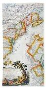 Map Of America, 1779 Beach Towel