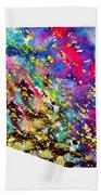Map Of Arizona-colorful Beach Towel