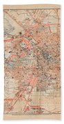 Map Of Berlin 1895 Beach Towel