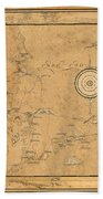 Map Of Cape Cod 1931 Beach Towel