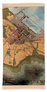 Map Of Cape Town 1947 Beach Towel