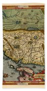 Map Of China 1590 Beach Towel