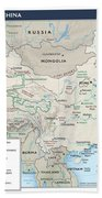 Map Of China 2 Beach Towel
