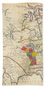 Map Of Colonial North America  Beach Towel