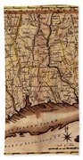 Map Of Connecticut 1795 Beach Towel