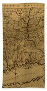 Map Of Connecticut 1797 Beach Towel