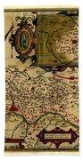 Map Of Cremona 1579 Beach Towel