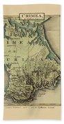 Map Of Crimea 1815 Beach Towel