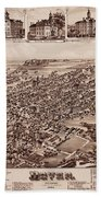 Map Of Dover 1885 Beach Towel