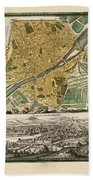 Map Of Florence 1731 Beach Towel