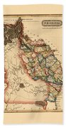 Map Of Georgia 1817 Beach Towel