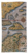 Map Of Gulf Of Mexico And C Beach Towel