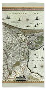 Map Of Holland 1682 Beach Towel