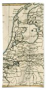Map Of Holland Including The Seven United Provinces Of The Low Countries Beach Towel