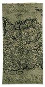 Map Of Ireland 1771 Beach Towel