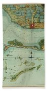 Map Of Jamaica 1756 Beach Towel