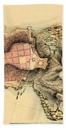 Map Of Montevideo 1808 Beach Towel