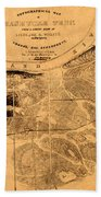 Map Of Nashville 1860 Beach Towel