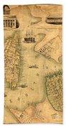 Map Of Norfolk 1851 Beach Towel