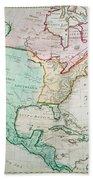 Map Of North America Beach Towel by English School
