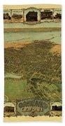 Map Of Oakland 1900 Beach Towel