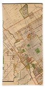 Map Of San Jose 1886 Beach Towel