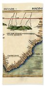 Map Of South Africa 1513 Beach Towel