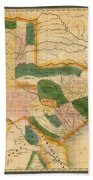 Map Of Texas 1834 Beach Towel