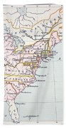 Map Of The Colonies Of North America At The Time Of The Declaration Of Independence Beach Towel by American School