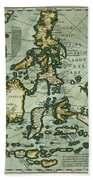 Map Of The East Indies Beach Towel