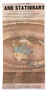 Map Of The Flat Earth Beach Towel