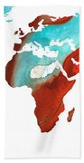 Map Of The World 4 -colorful Abstract Art Beach Sheet