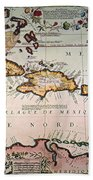 Map: West Indies Beach Towel
