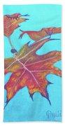 Drifting Into Fall Beach Towel by Phyllis Howard