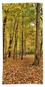 Maple Woods Trail Beach Towel