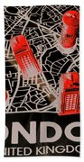 Maps From London Town Beach Towel