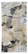Marble Tan Black Beach Towel