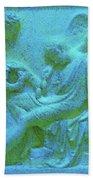 Marble Angel Relief Beach Towel