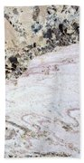 Marble Black Tan Pink Beach Towel